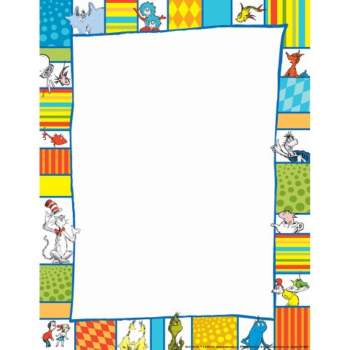 Dr Seuss Paper (Eureka Back to School Shapes Computer Paper, Dr. Seuss Classroom Supplies, 50)