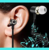 Avoalre 3.5mm Aduio Jack In-ear Headphones with Microphone for iPhones 6 6s 6 plus 6s plus 5 5s Android Devices Mp3 players--Black