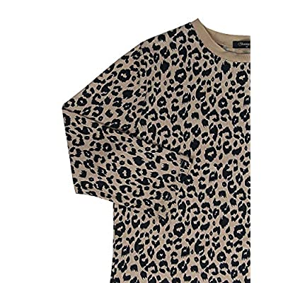 BMJL Women's Casual Leopard Print Tops Long Sleeve T Shirt Cute Blouse at Women's Clothing store