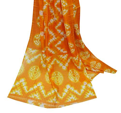 PEEGLI Vendimia Indio Sari Naranja Ropa Casual Vestido Corbata Y ...