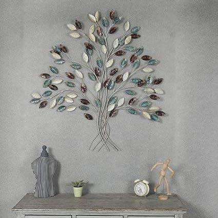 3b835a54c7 Amazon.com : Winsome House Metal Tree Wall Decor : Garden & Outdoor