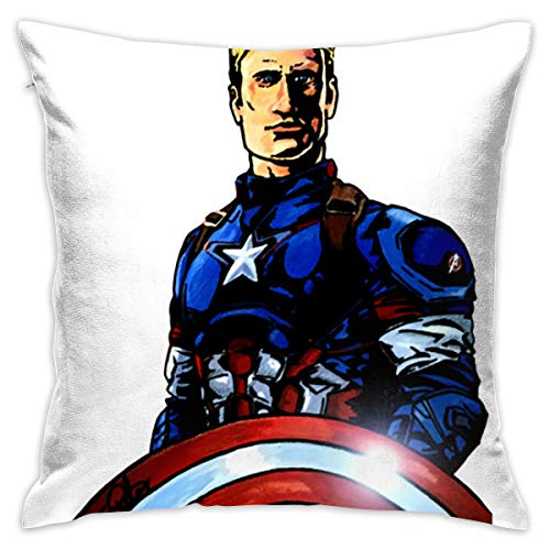Kjhuihi Captain America-Variant Cushion Cover Durable Cotton Linen Pillowcase for Sofa,Bedroom,Gifts,Home Decor 45x45cm