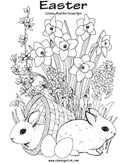 easter coloring book for grown ups 1 volume 1 - Easter Coloring Book