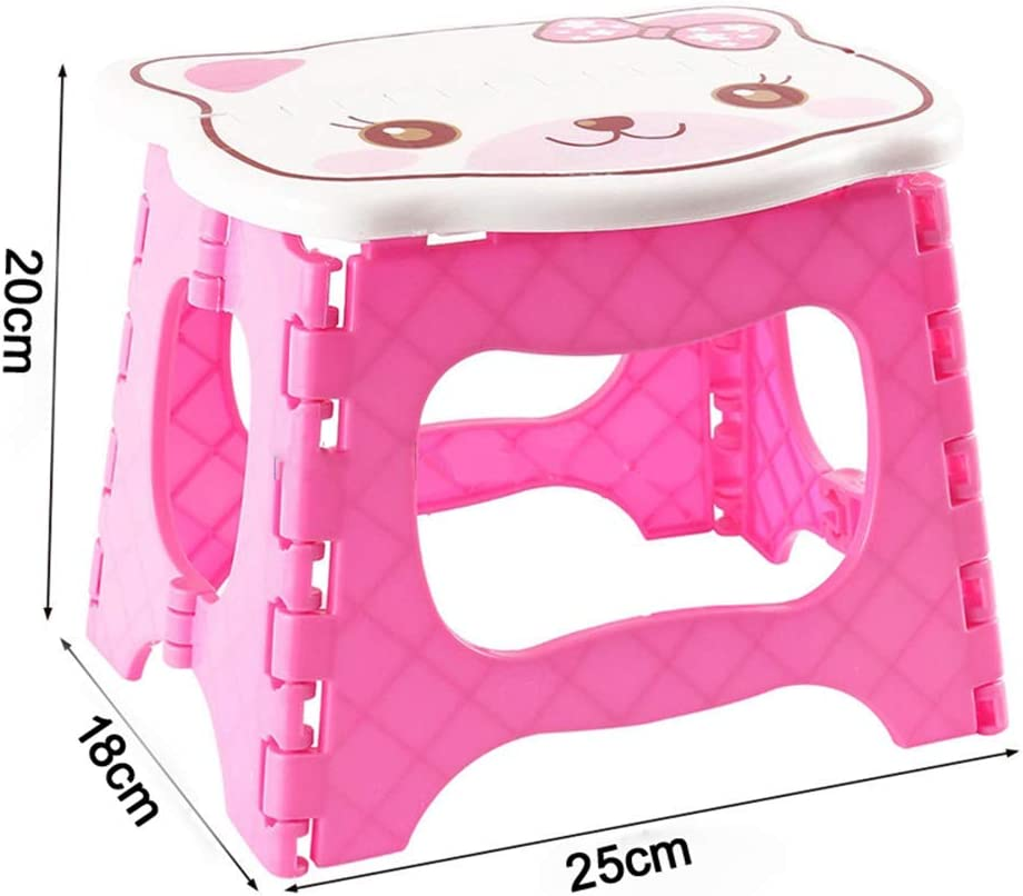 Outtybrave Cute Plastic Folding Step Stool Children Foldable Portable Foot Stool for Hoem Garden Bathroom Outdoor