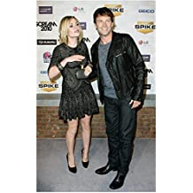 Anna Paquin with Stephen Moyer All Smiles at Special Event 8 x 10 Inch Photo