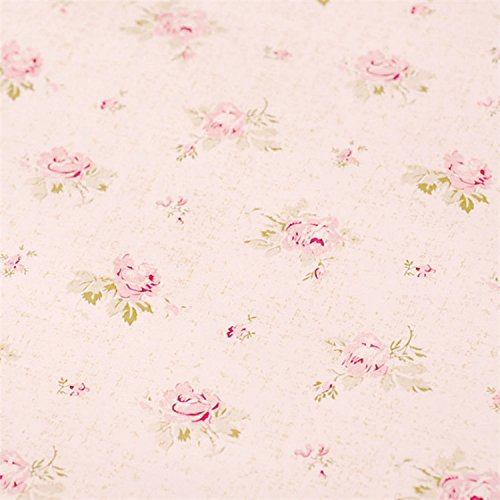 Pink Floral Drawer Shelf Liner Self Adhesive Decorative Contact Paper Vinyl Covering for Shelves Drawer Furniture Wall Decoration 17.7x78.7 Inches ()