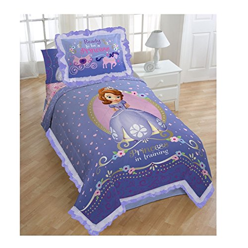 Princess Sofia Exclusive Designed Comfortable Girls Bedding Twin Comforter and Sham Set (Purple) (Bed Oak Girls Sets For Mossy)