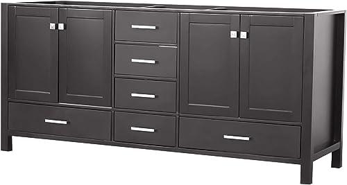 ARIEL 72″ Inch Espresso Bathroom Vanity Base Cabinet