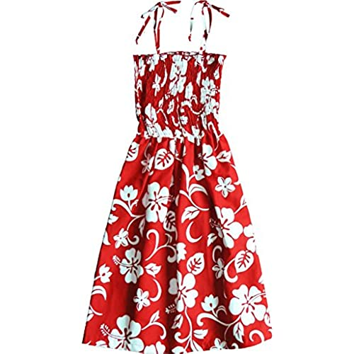 RJC Womenu0027s Classic Hibiscus Hawaiian Smocked Sundress Red Large  sc 1 st  Amazon.com : lilo costume pattern  - Germanpascual.Com
