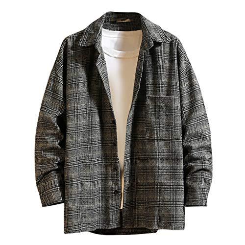 Landscap Men Winter Cotton-Padded Jacket Coat Mid-Length Printing Velvet Thickened Hoodie Jacket Warm Fleece Lined Coat