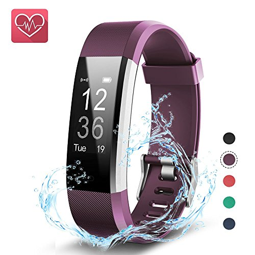 KEDA Fitness Tracker, OLED Touch Screen Smart Watch Pedometer with Heart Rate Monitor Sleep Monitor Calorie Counter IP67 Waterproof Bluetooth Activity Tracker for iOS and Android from KEDA