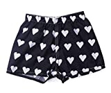 My Pipers Boxer Shorts Reimagined for Girls (Small, Black White Hearts)