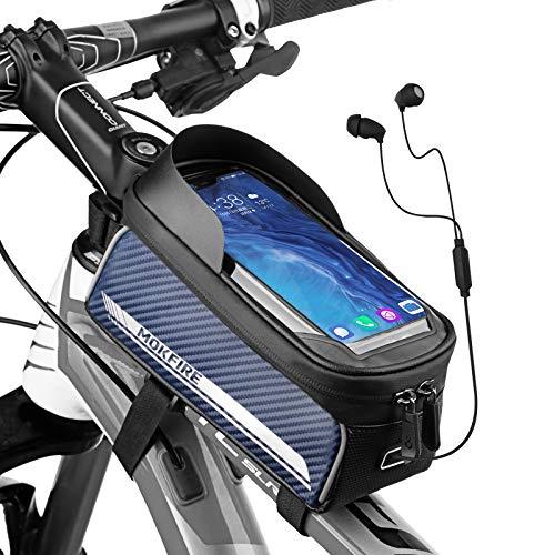 RNOX Bike Phone Front Frame Bag Waterproof Bicycle Mount Top Tube Bag Bike Phone Case Holder Handlebar Bag Accessories…