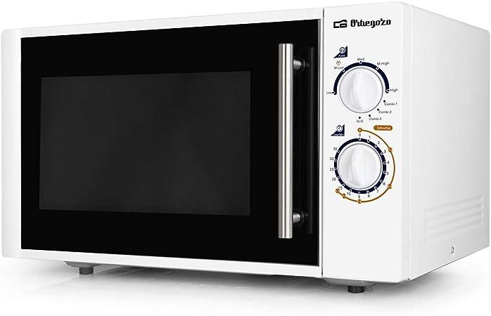 Orbegozo MIG2520 Microondas, 25 litros de Capacidad, 5 Niveles de Potencia + Grill + 3 Funciones Combi, 900 W, Blanco: Amazon.es: Hogar