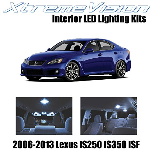 - XtremeVision Lexus IS250 IS350 ISF 2006-2013 (10 Pieces) Cool White Premium Interior LED Kit Package + Installation Tool Tool