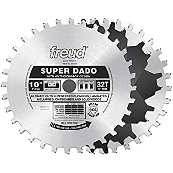 Freud 10 x 32t super dado sets sd510 dado saw blades amazon freud 10 x 32t super dado sets sd510 greentooth Image collections