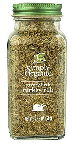 Simply Organic, Organic Savory Herb, Turkey Rub, 2.43 oz (69 g)