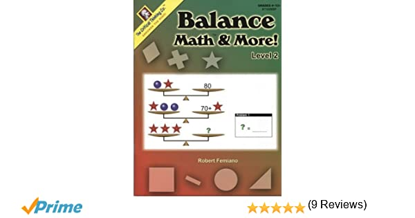 Workbook algebra balance scales worksheets : Critical Thinking Press Balance Math & More Level 2: Robert ...