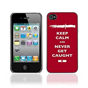 Designer Depo Hard Protection Case for Apple iPhone 4 4S / Keep Calm & Never Get Caught