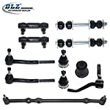 DLZ 11 Pcs Front Suspension Kit-Ball Joint Tie Rod End Sway Bar Center Link Idler Arm Compatible with 1987-1992 Cadillac Brougham, 1994-1996 Cadillac Commercial Chassis, 1980-1984 Cadillac Deville
