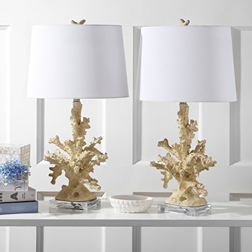 - Safavieh Lighting Collection Coral Branch Table Lamp, Creme