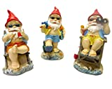 Set of 3 Gnomes on Tropical Vacation