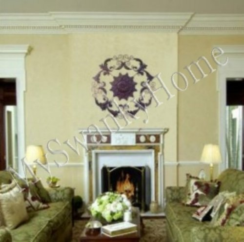 """XL 50"""" Old World Iron Floral Wall Medallion - Brown"""