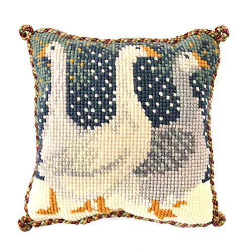 Snow Geese Mini Needlepoint Tapestry Kit from