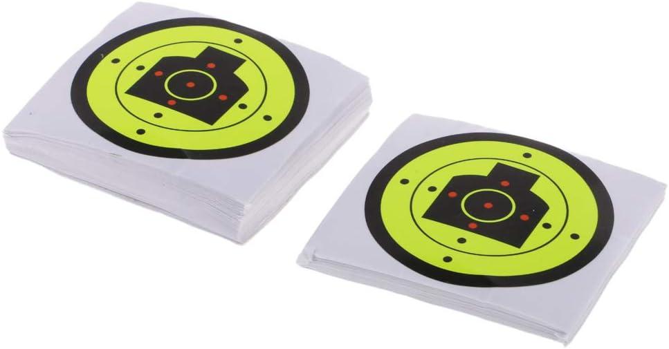 100pcs cible de tir cible de tirs réactifs autocollant adhésif de papier