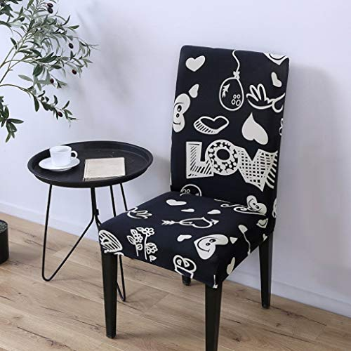 - SGHOME Chair Cover 1pc One-Piece Wrap Angle Universal Size Gorgeous Refined Ruched Spandex Stretch Kitchen Seat Protector