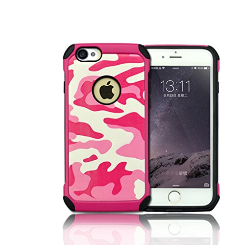 4s Hard Back Case - iPhone 4s case,iPhone 4 Camo Case,3 In 1 Plastic Leather and TPU Hybrid Slim Strong Hard Back Heavy Duty Shockproof Armor Camouflage Case Cover for iPhone 4/4S - Pink