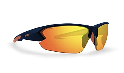2ad81b26d74 Amazon.com  Epoch 4 Golf Sunglasses Blue and Orange Frame Orange ...