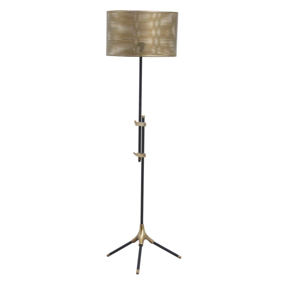 Ashley Furniture Signature Design – Mance Metal Floor Lamp – Telescoping Post – Gray Brass Finish
