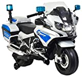 Rosso Motors Kids Police rideon Motorcycle Bike Car 12V