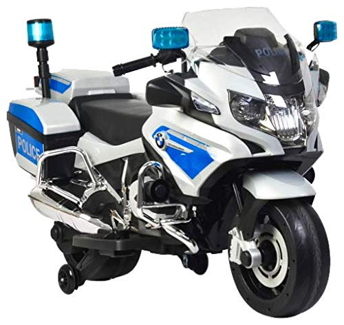 (Rosso Motors Kids Police rideon Motorcycle Bike Car 12V)