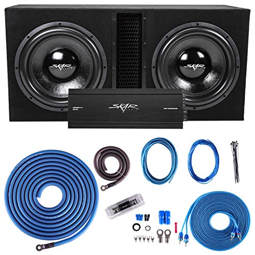 """Skar Audio Dual 15"""" Complete 5,000 Watt Subwoofer Bass Package - Includes Subwoofers in Ported Box with Amplifier"""