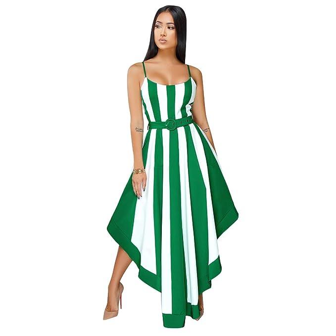 Women S Sexy Spaghetti Strap Stripe Print Summer Beach