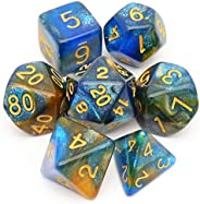 Haxtec DND Dice Set 7PCS Polyhedral D&D Dice for Roleplaying Dice Games as Dungeons and Dra
