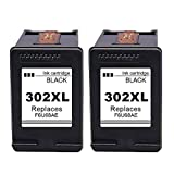 Ksera Remanufactured HP 302 302XL Black Ink Cartridges Replacements High Yield Ink Cartridges 2Packs of Black(F6U68AE) Compatible with HP Envy 4520/4521/4522/4523/4524/4525 HP OfficeJet 3830/3831