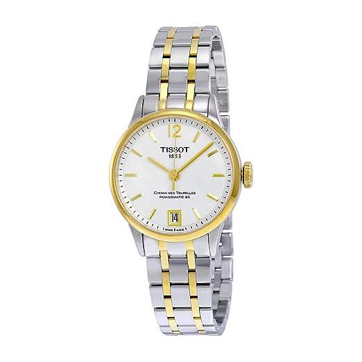 TISSOT RELOJ DE MUJER AUTOMÁTICO 32MM CORREA Y CAJA DE ACERO T0992072203700: Amazon.es: Relojes