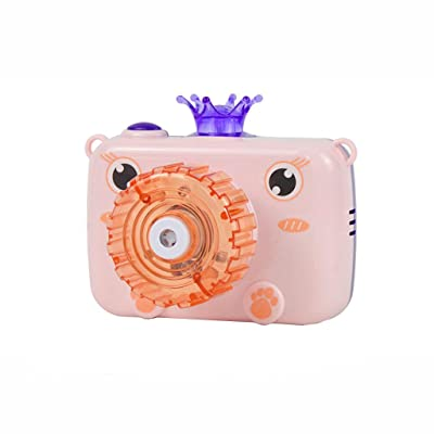 Bubble Machine, Funny Camera Bubble Blower Portable Baby Bubble Maker with Music and Light Outdoor Indoor Activity, Best Gaming Toy for Kids Toddlers Boys Girls Pets Summer Gift: Jewelry