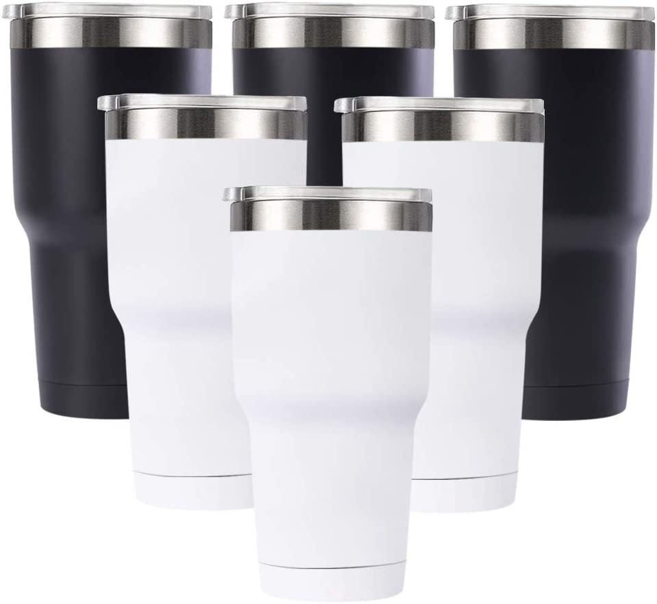 Deitybless 30 Oz Tumbler Vacuum Insulated Travel Mug with Sliding Lids, Stainless Steel Double Wall Thermal Coffe Cup for Home, Office, Outdoor Suitable for Vehicle Cup Holders