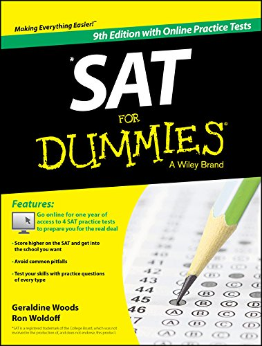 Pdf Test Preparation SAT For Dummies, with Online Practice