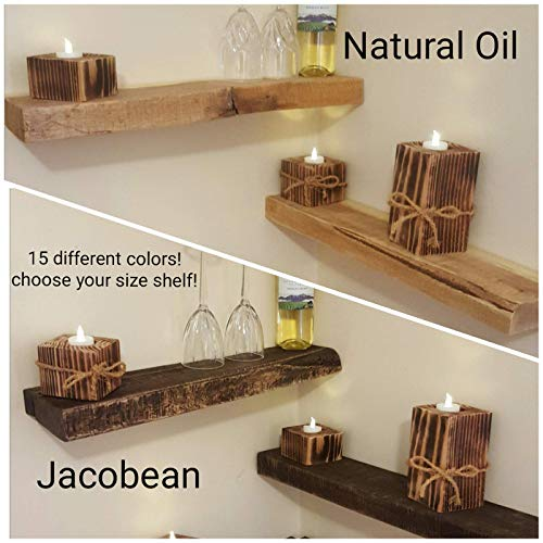 (Rustic Re-Purposed Salvaged Solid Wood Lumber Shabby Chic Floating Shelf More Colors and Sizes Available )
