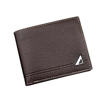 Amazon.com: ivotre corto billetera para hombre, tri- Fold ...