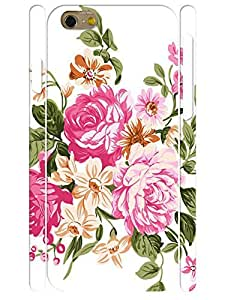 Customized Trendy Pink Rose 3D Print Tough Phone Snap On Case for Iphone 6 4.7 Inch