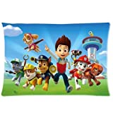 Custom Paw Patrol Pillowcase Rectangle Zippered Two Sides Design Printed 20x26 Pillow Cover Cushion Case Covers