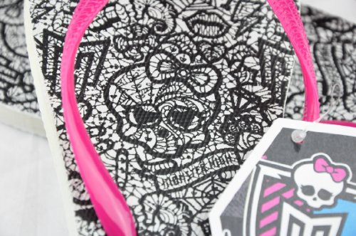 Monster High - Zuecos para niña - Pink Strap With White Sole