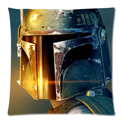 Generic Star Wars Boba Fett Zippered Pillowcase 18-inch By 18-inch (Twin Sides)