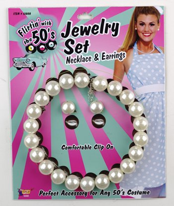 Morris Costumes PEARL NECKLACE AND (Halloween Costumes From The 50's)